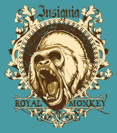 Royal aap Stock Illustratie