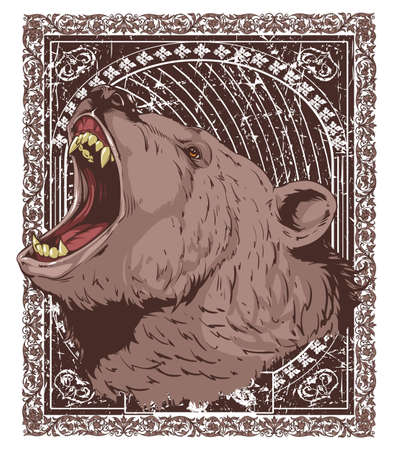 angry bear: Grizzly Feeling Vectores