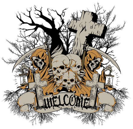 churchyard: Welcome to cemetery