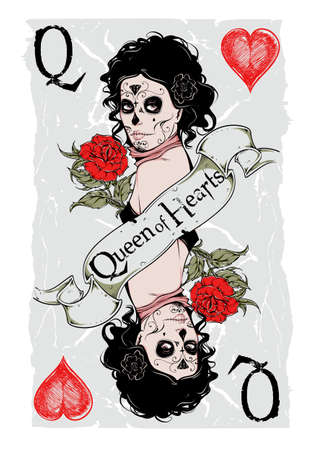 deck of cards: Queen of hearts Illustration