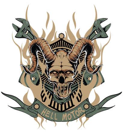 demonic: Hell motor  Illustration