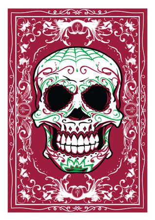 macabre: Floral Skull