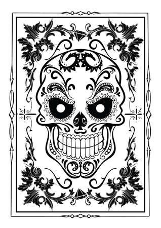 morto: Crânio floral
