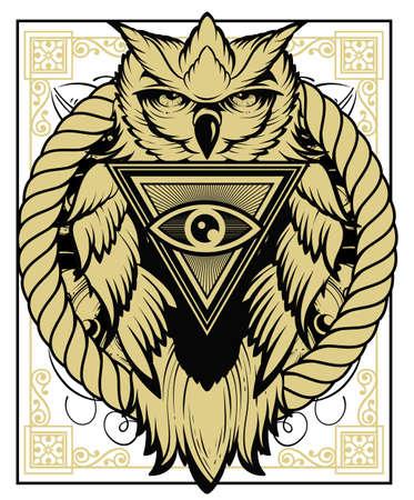 night bird: Security guard illustration