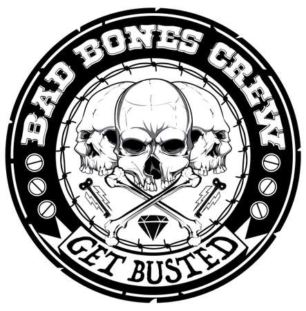 Illustratie slechte botten crew