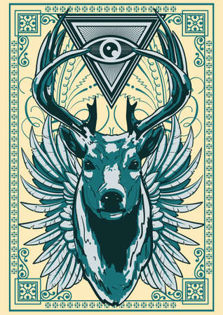 Royal deer illustration