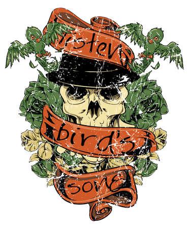 pajaro dibujo: Escuchar la canción del pájaro Vectores