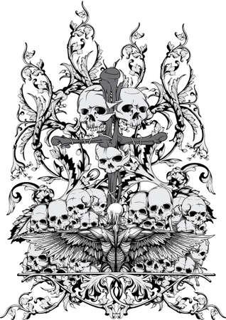 cross bones: Raise the army Illustration