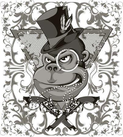 산적 원숭이 일러스트