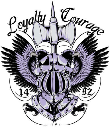 Loyalty and courage Vector