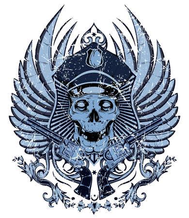 skull character: Policeman skull