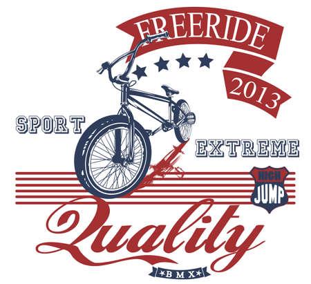 freeride: Bicicleta de Freeride Vectores