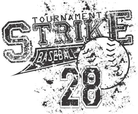 hogescholen: Honkbal staking Stock Illustratie