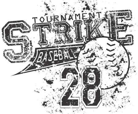 softbol: Huelga de Béisbol Vectores