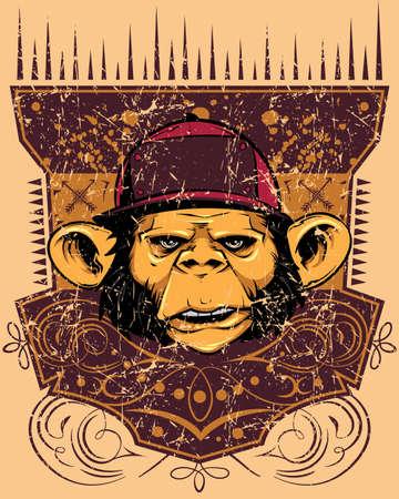 Monkey rapper Illustration