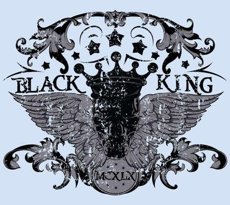 Rey negro Foto de archivo - 26243657