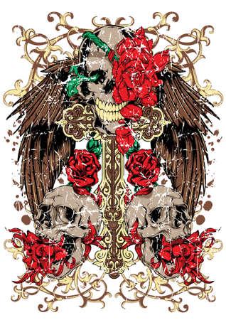 engel tattoo: Frieden Illustration