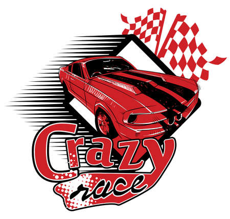 checker flag: Crazy race