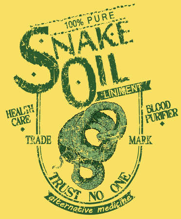 serpiente caricatura: Aceite de serpiente