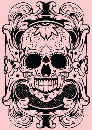 Bloemen schedel