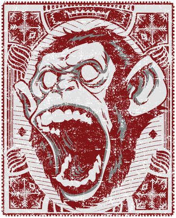 monkey face: Screaming monkey