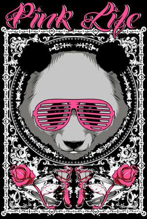 ピンクの生活  イラスト・ベクター素材