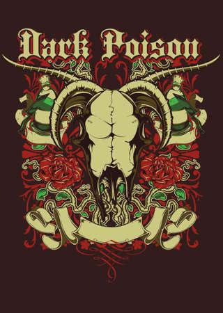 cow skull: Dark poison