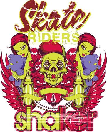 derby: Skate shaker Illustration