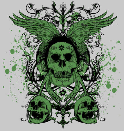 Winged skull master  Vector