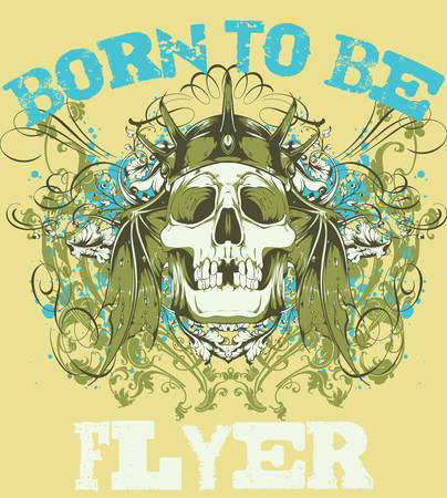 Born to be flyer Vector