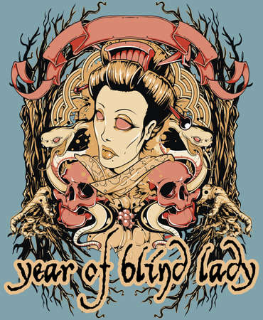 Year of blind lady  Vector