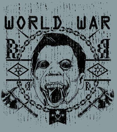 13th: World war  Illustration