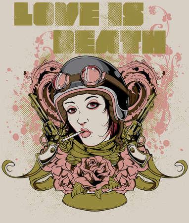 punk hair: Love is death