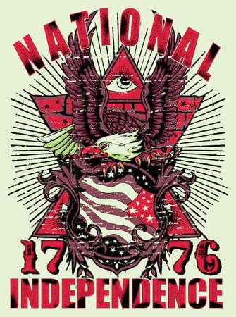 patriotic eagle: National independence  Illustration