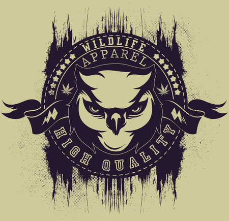 Wildlife apparel  Illustration