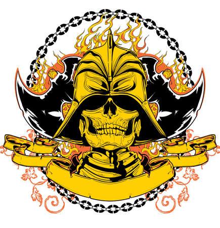 Oriental warrior  Illustration