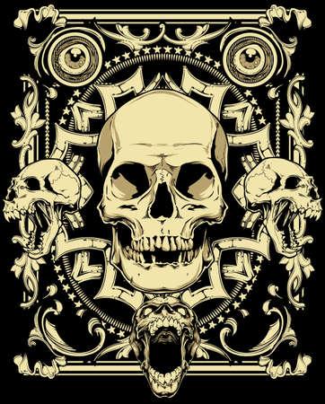 gangster background: Last smile  Illustration