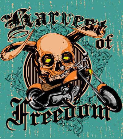 Harvest of freedom Illustration