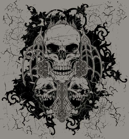 skull tattoo: No faith
