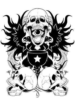 Skull potion  Vector