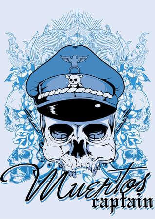 Muertos captain Stock Vector - 27808169