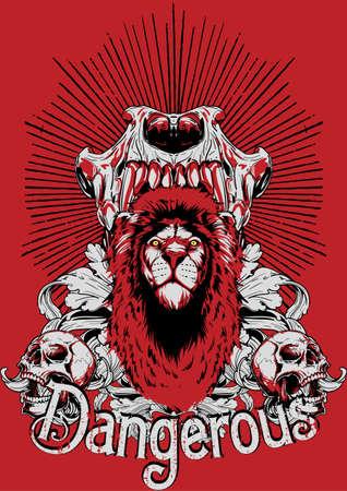 fire skull: Dangerous  Illustration