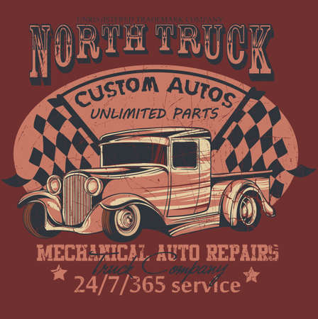North truck Illustration