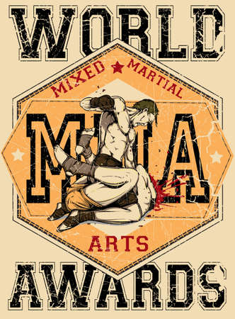 male boxer: Mixed martial arts Illustration