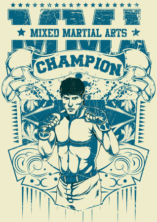 jiu jitsu: Mixed martial arts Illustration