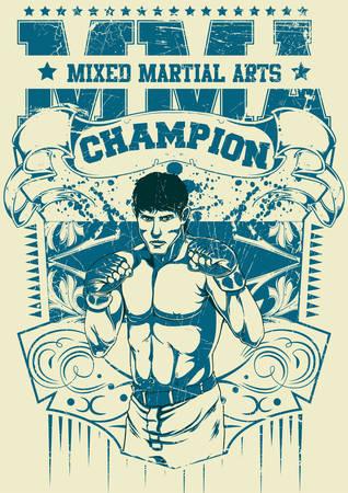 martial arts: Mixed martial arts Illustration