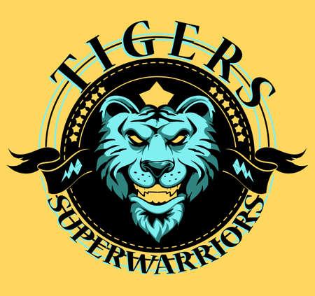 Tigers mascot art Vector
