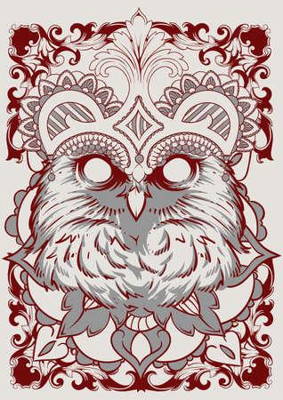 The Owl King art Vector