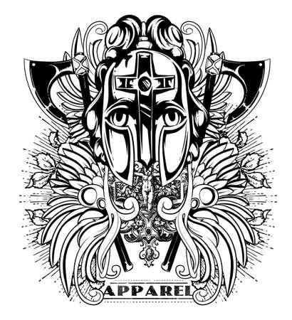 Warrior apparel art Illustration
