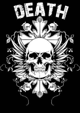 skull tattoo: Death art Illustration